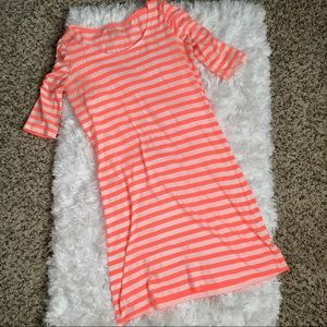 Lilly Pulitzer Striped Neon Pink Cotton Dress
